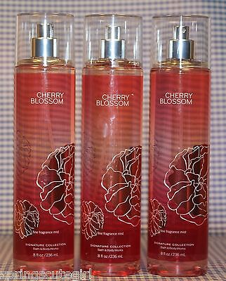 3 Bath & Body Works CHERRY BLOSSOM Fine Fragrance Mist Spray