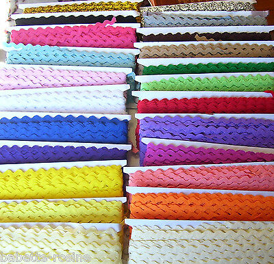 1,50 m de RUBAN GALON CROQUET ZIG ZAG SERPENTINE ** 5 mm ** Couture Scrapbooking