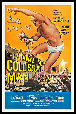 AMAZING COLOSSAL MAN * CineMasterpieces SCI FI MONSTER GIANT MOVIE POSTER 1957