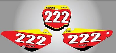 Custom Number Plate graphics for Suzuki RM 85 all years