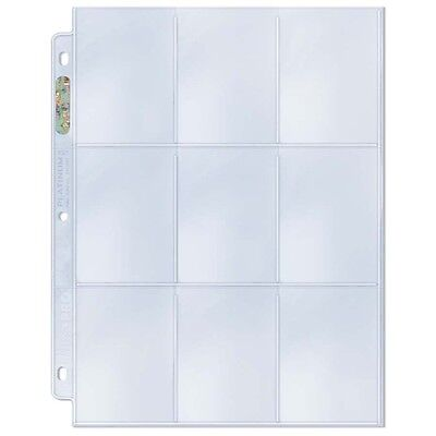 (10) Ultra Pro PREMIUM 9-Pocket Trading Card Album Pages PLATINUM Hologram