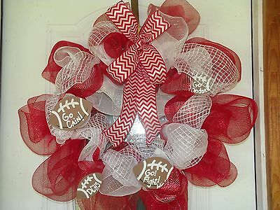 Football Crazy Deco Mesh Wreath