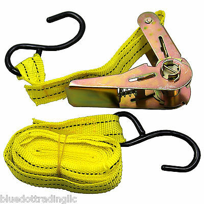NEW 1pc DUTY NYLON RATCHET TIE DOWN CARGO STRAP ~ SHIPS FROM USA