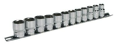 SEALEY TOOLS 12 PIECE CLASSIC SOCKET SET 3/8 DRIVE WITH RAIL 8mm > 19mm