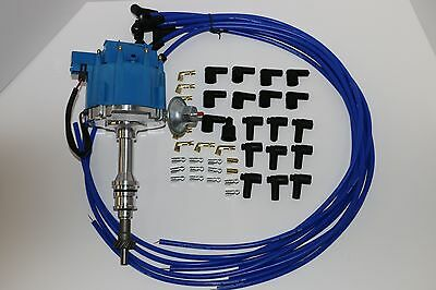 ford blue cap hei electronic distributor mm blue bb ford 429 460 hei distributor 8 5mm 90acircdeg blue spark plug wires mustang
