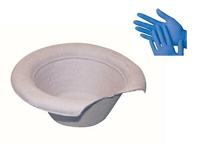 Vomit Sick Bowl Disposable Cardboard Pulp Bowls Blood Urine + 1 FREE Pair Gloves
