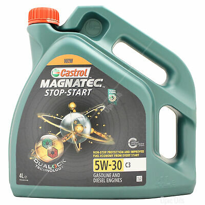 Castrol Magnatec Stop-Start 5W-30 5W30 C3 Fully Synthetic Engine Oil - 4 Litres