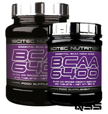 SciTec BCAA 6400 mg ESSENTIAL BCAA'S AMINO ACIDS RECOVERY BRANCHED CHAIN PURE