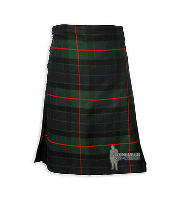 Mens Scottish Tartan Deluxe 8-Yard Kilt - Gunn - Range Of Sizes!