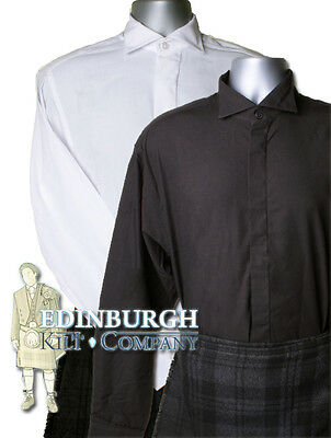 Victorian Collar Shirt - Ideal For Kilt Outfit - White, Black & Range Of Sizes!