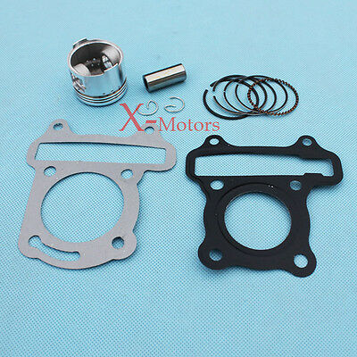 New GY6 50cc moped scooter Engine Piston ring spring head gasket set Sunl