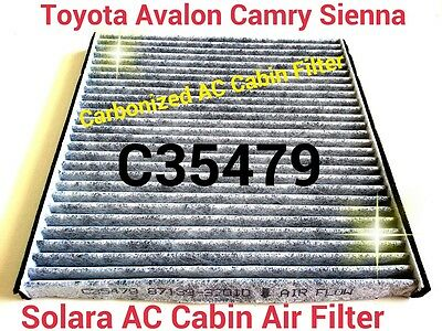 CARBONIZED CABIN AIR FILTER For Toyota Camry Avalon Sienna Solara Great Fit!