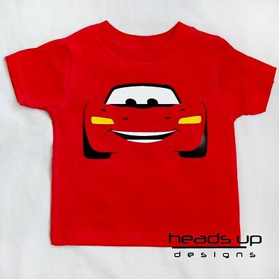 Lightning Mcqueen Cars Shirt Cars 1 and 2 Baby Kid Boy Girl Toddler Adult