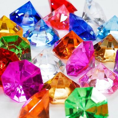 Acrylic Ice Gems Diamond Jewel Confetti Wedding Party Table Scatter Decoration
