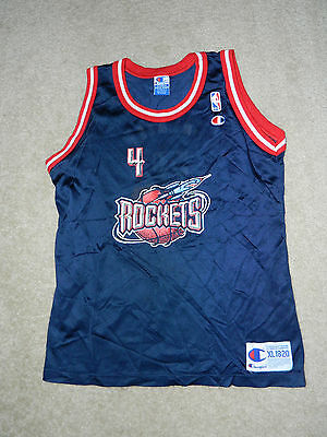 7da7236a6 VINTAGE CHAMPION HOUSTON Rockets Jersey Charles Barkley Size 44 NBA ...