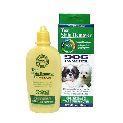 DOG FANCIER Tear Stain Remover Clean and Healthy eyes for Dogs and Cats 120ml