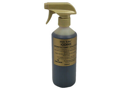 Gold Label Iodine Spray x 500 Ml - Horse/Pony First Aid Care
