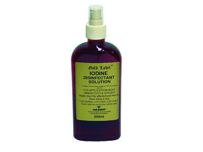Gold Label Iodine Spray x 250 Ml - Horse/Pony First Aid Care