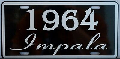 1964 64 Impala License Plate 327 409 Convertible Chevy Chevrolet Ss Super Sport