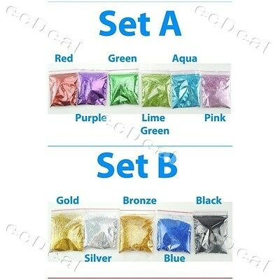 A set of 1, 5, 6, 11 colors Glitter Shaker 5g each bag value pack