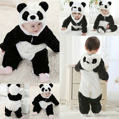 Baby Boy Girl Panda Carnival Fancy Dress Party Costume Outfit Clothes Playsuits