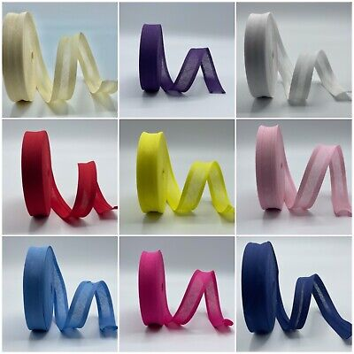 Superior Quality Cotton Bias Binding Rolls One Inch Wide Many Colours