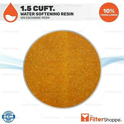 Water Softening Resin Ion Exchange Resin Cation 1.5 Cubic Feet