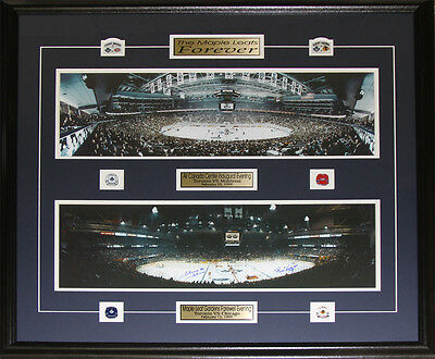 Toronto Maple Leafs Gardens Air Canada Center Last First Game Signed Bower Kelly