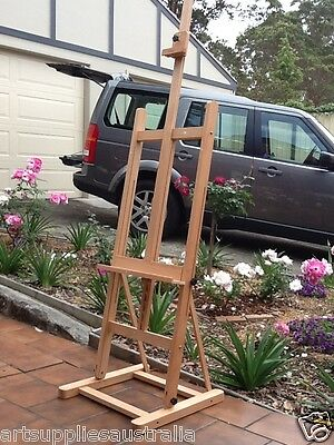 Large Studio H-frame Artist Easel, Solid Stable Beechwood LW02B