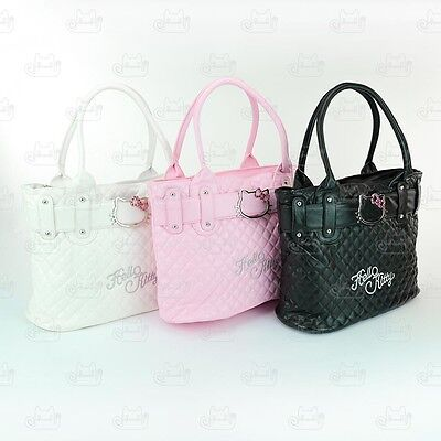 Hello Kitty Soft Leather-Like Hand Carry Tote Shoulder Bag 3 Colors #730