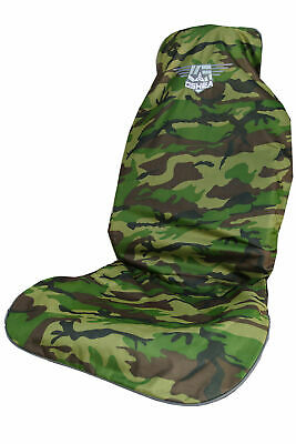 O'Shea Single Car Van Seat Cover Black/Camo/Grey (Water/Dirt Resistant)
