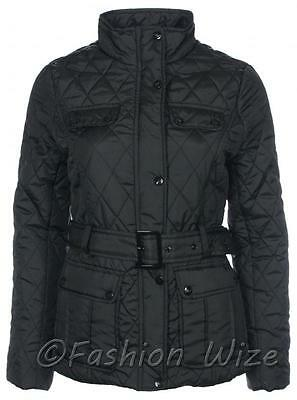 Girls School Padded Quilted Winter Jacket Top Black Age 7 8 9 10 11 12 13 Years