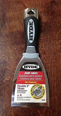 """Hyde 06358 Flexible 3"""" Drywall Joint Knife Max grip Pro Series"""