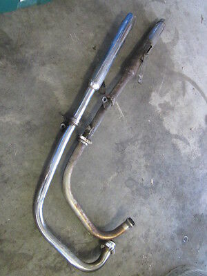 Yamaha TX650 1972 XS650 XS2 Exhaust Pipes Headers Mufflers Left Right Set