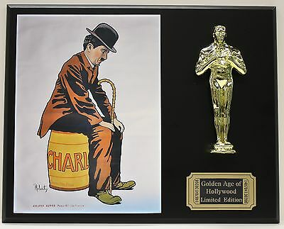 CHARLIE CHAPMAN THE LITTLE TRAMP OSCAR MOVIE DISPLAY FREE U.S. SHIPPING