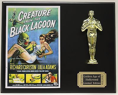 CREATURE FROM THE BLACK LAGOON  OSCAR MOVIE DISPLAY FREE U.S. SHIPPING