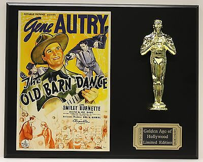 GENE AUTRY THE OLD BARN DANCE OSCAR MOVIE DISPLAY FREE U.S. SHIPPING