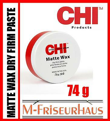 (€18,65/100g) CHI 44 FAROUK Matte Wax Dry Firm Paste mit 74g aus USA
