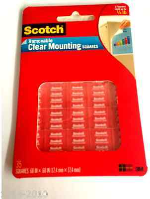 3M Scotch #859 Removable Clear Mounting Squares (Double sided Adhesive Tapes)