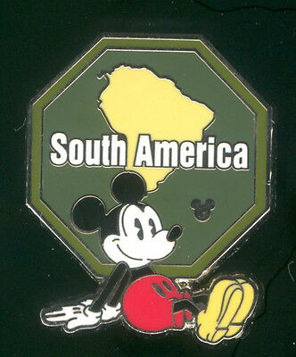 WDW 2012 Hidden Mickey Continents Stamps South America Disney Pin 88676