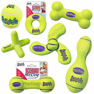 Air KONG LARGE Dog Tennis Squeaky Toy for Fetch Games