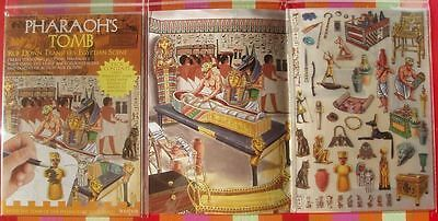 Pharaoh's Tomb Transfers Party Fun Egyptians Romans Sphinx Nile Ancient Child bn
