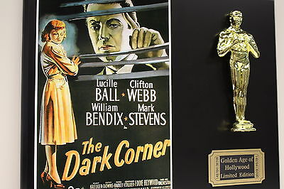 LUCILLE BALL, THE DARK CORNER  OSCAR MOVIE DISPLAY FREE U.S. SHIPPING