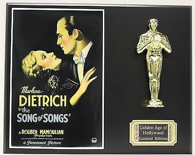 MARLENE DIETRICH, THE SONG OF SONGS OSCAR MOVIE DISPLAY FREE U.S. SHIPPING