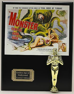 MONSTER FROM THE OCEAN FLOOR OSCAR MOVIE DISPLAY FREE U.S. SHIPPING