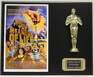 MONTY PYTHON'S, THE MEANING OF LIFE OSCAR MOVIE DISPLAY FREE U.S. SHIPPING