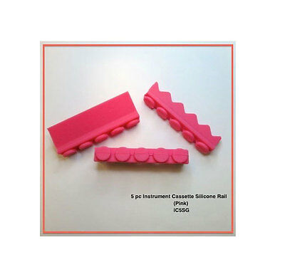 Silicone Compression and Instrument Cassette Rails (Pink) - IC5SP