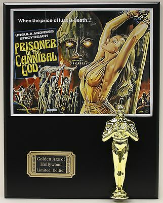 PRISONER OF THE CANNIBAL GOD, OSCAR MOVIE DISPLAY FREE U.S. SHIPPING