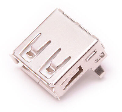 2pcs USB Type A Female Right Angle Port Connector Socket PCB Replacement - USA