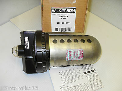 "New Wilkerson  L34-08-000 1""  Pneumatic Air Line Lubricator Nib**fast Shipping**"